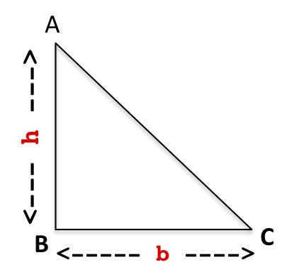 how to find the base of a right angled triangle